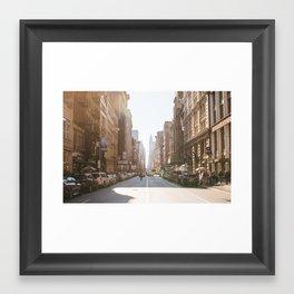 New York City Streets Framed Art Print