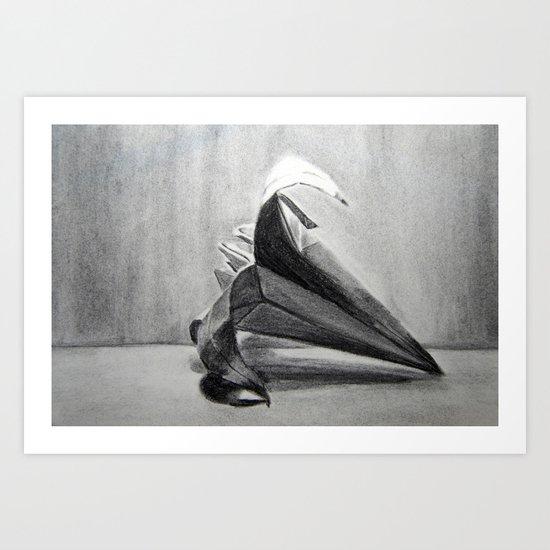 Origami Flower Art Print