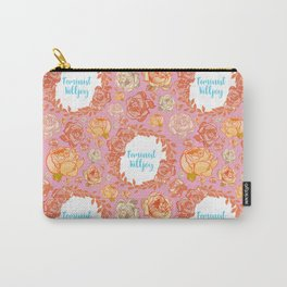 Cute Feminist Killjoy Floral Print Carry-All Pouch