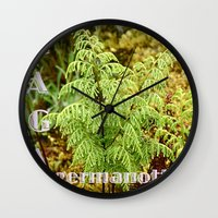lady gaga Wall Clocks featuring Gaga germanotta by Duke Herbarium