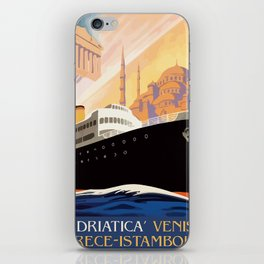 Venice Greece Istanbul shipping line retro vintage ad iPhone Skin