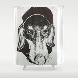 Dachshund Pup Shower Curtain