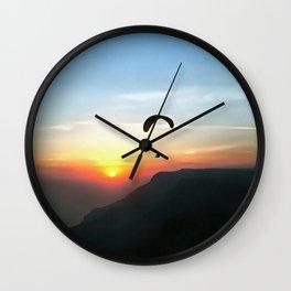 Sunset Paraglide Wall Clock