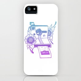Capturing The Sunset - Blue To Pink Color Palette iPhone Case