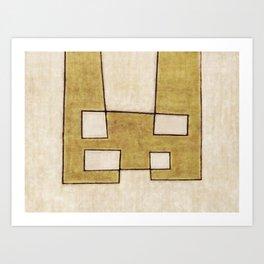 Protoglifo 06 'Mustard traverse cream' Art Print