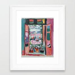 Open The Window Framed Art Print
