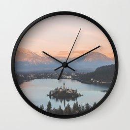 Lake Bled, Slovenia Wall Clock