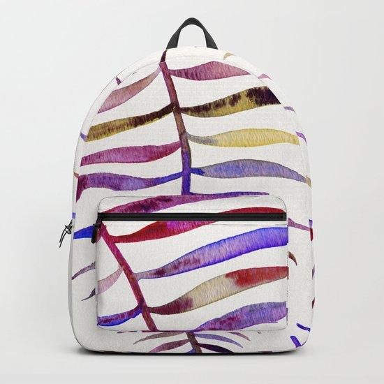 Magenta Palm Leaf Backpack
