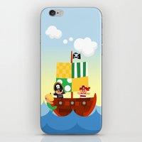 pirate ship iPhone & iPod Skins featuring pirate ship by Alapapaju