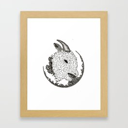 decapitated goat Framed Art Print