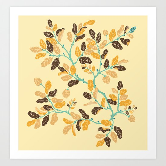 Crisp Autumn Branches Art Print