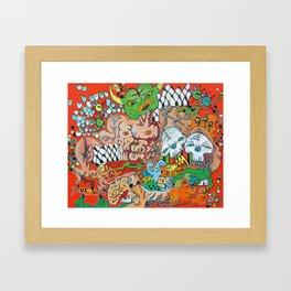 The Demon Carnival Framed Art Print