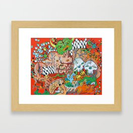 The Demon Carnival Framed Art Print