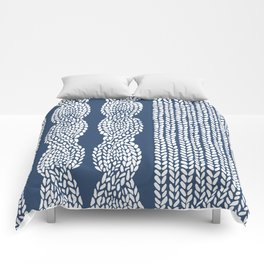 Cable Row Navy 1 Comforters