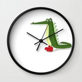 cocodrilo con botas Wall Clock