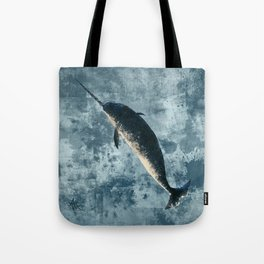 """""""Jackson the Narwhal"""" by Amber Marine ~ Art (Copyright 2015) Tote Bag"""