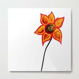 Just One Abstract Flower Metal Print