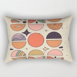 Retro Fruits Rectangular Pillow