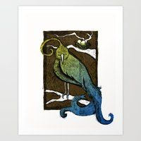 Printed Bird Art Print