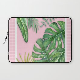 Green on Pink Laptop Sleeve
