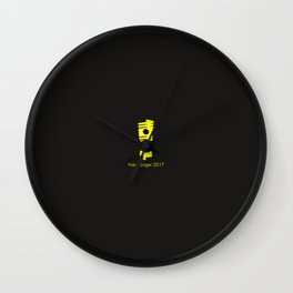Pokal Sieger 2017 ! - Yellow Edition Wall Clock