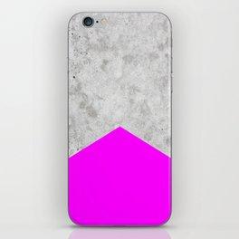 Concrete Arrow - Neon Purple #728 iPhone Skin