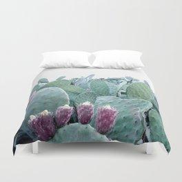 Mint Cactus Duvet Cover