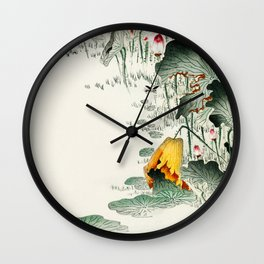Frog in the swamp  - Vintage Japanese Woodblock Print Art Wall Clock