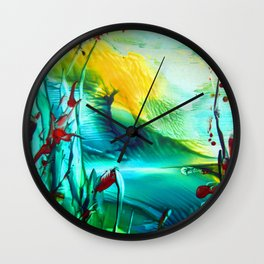 Cornpoppy Wall Clock