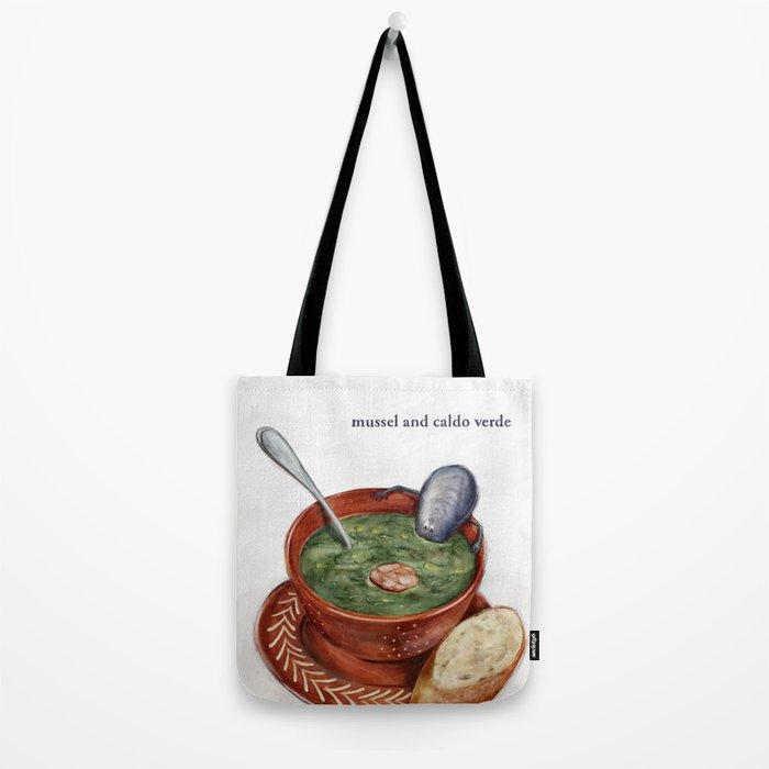La Cuisine Fusion - Mussels with Caldo Verde Tote Bag