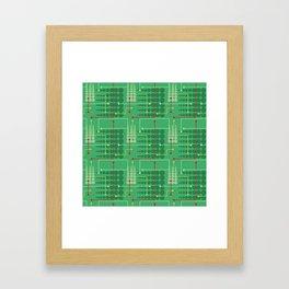 Abstract geometric pattern Framed Art Print