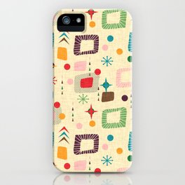 Atomic pattern iPhone Case