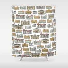 Wooden houses of Hjo Shower Curtain