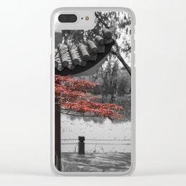 Gucun Garden Trees Clear iPhone Case