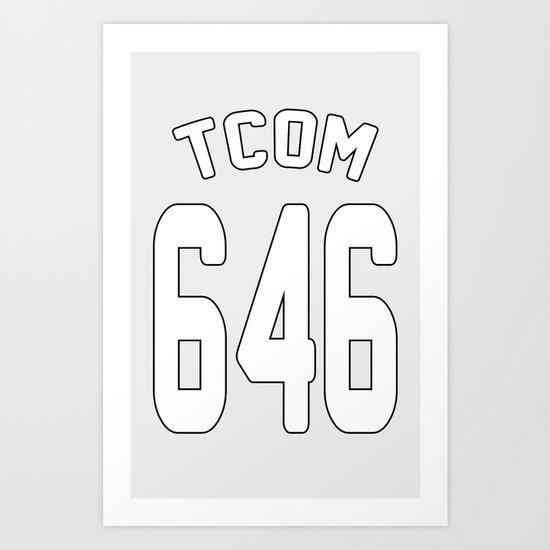 TCOM 646 AREA CODE JERSEY Art Print