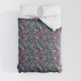 Midnight Autumn Blooms Comforters