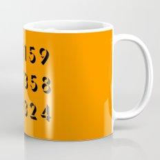 Pi - 3,14 -Orange Mug
