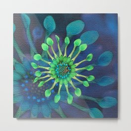 Passion Flower Watercolor Metal Print