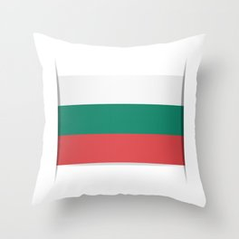 Flag of Bulgaria. The slit in the paper with shadows. Throw Pillow
