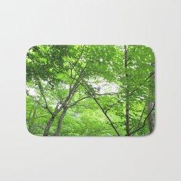 Watercolor Tree, Under, Birch 03, Cape Breton, Nova Scotia, Canada Bath Mat