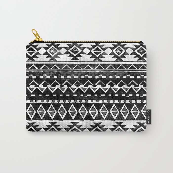 TRIBAL MONOCHROME Carry-All Pouch