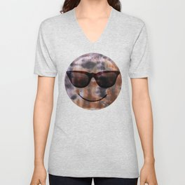 Copper and Iron abstract pattern Unisex V-Neck