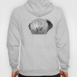 Black and white elephant animal jungle Hoody