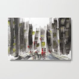 City Sketch Metal Print
