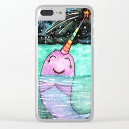 Narwhal Wish Clear iPhone Case