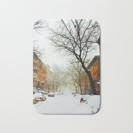 NYC @ Snow Time Bath Mat