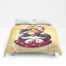 Cat Stack Doodle Comforters