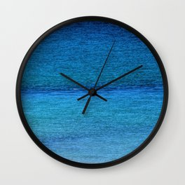 Blue Sea Wall Clock