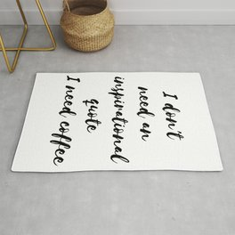 Funny gifts for coffee lovers I need coffee Rug