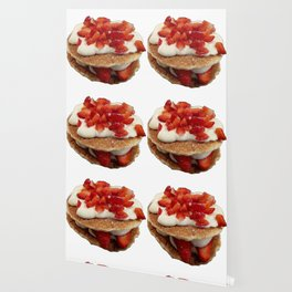 pancakes_strawberries_and_whip_cream Wallpaper